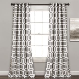 """Lush Decor 2-pack Sequoia Geo Room Darkening Window Curtains - 52"""" x 84"""""""