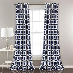 Lush Decor 2-pack Sequoia Geo Room Darkening Window Curtains - 52' x 84'