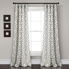 Lush Decor 2-pack Octagon Blocks Room Darkening Window Curtains - 52' x 84'