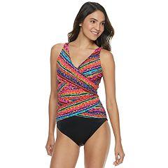 Women's Croft & Barrow® All Over Control Crisscross One-Piece Swimsuit
