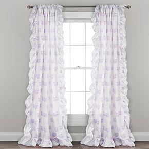 "Lush Decor 2-pack Ruffle Fox Kids Window Curtains - 40"" x 84"""