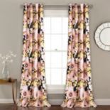 """Lush Decor 2-pack Floral Watercolor Room Darkening Window Curtains - 52"""" x 84"""""""