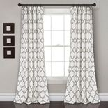 "Lush Decor 2-pack Bellagio Room Darkening Window Curtains - 52"" x 84"""