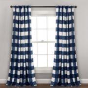 "Lush Decor 2-pack Kelly Checker Kids Room Darkening Window Curtains - 52"" x 84"""
