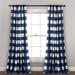 Lush Decor 2-pack Kelly Checker Kids Room Darkening Window Curtains - 52' x 84'