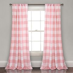 Lush Decor 2-pack Kelly Checker Kids Room Darkening Window Curtains - 52' x 84'