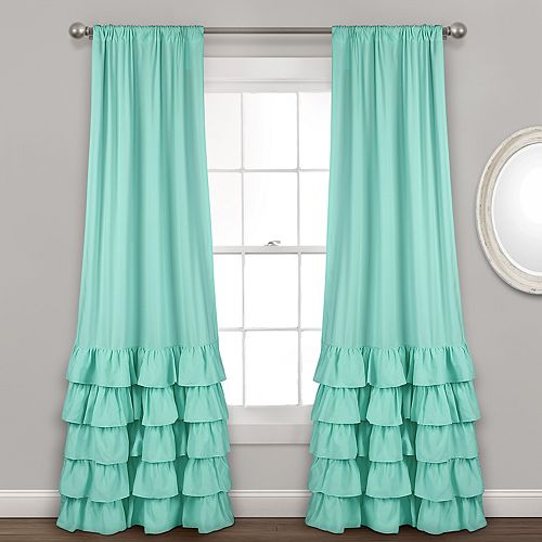 "Lush Decor 2-pack Allison Ruffle Window Curtains - 40"" x 84"""