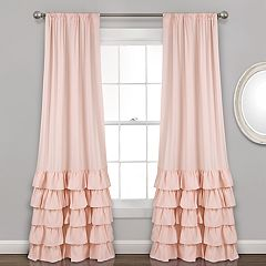 Lush Decor 2-pack Allison Ruffle Window Curtains - 40' x 84'
