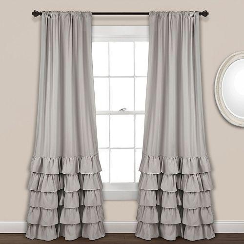 "Lush Decor 2-pack Allison Ruffle Window Curtains - 40"" x 84"""