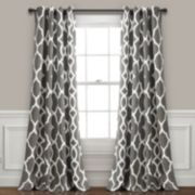 "Lush Decor 2-pack Connor Geo Room Darkening Window Curtains - 52"" x 84"""