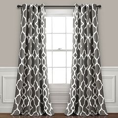 Lush Decor 2-pack Connor Geo Room Darkening Window Curtains - 52' x 84'