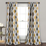 "Lush Decor 2-pack Mid Century Room Darkening Window Curtains - 52"" x 84"""