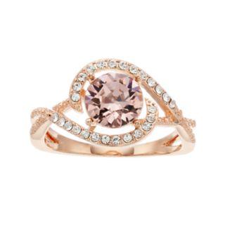 Brilliance Round Pave Ring with Swarovski Crystals