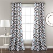 "Lush Decor 2-pack Kevin Diamond Room Darkening Window Curtains - 52"" x 84"""