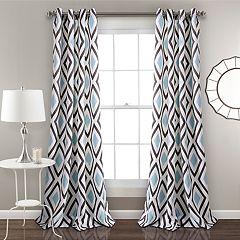 Lush Decor 2-pack Kevin Diamond Room Darkening Window Curtains - 52' x 84'