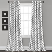 "Lush Decor 2-pack Feather Arrow Geo Room Darkening Window Curtains - 52"" x 84"""
