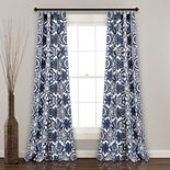 "Lush Decor 2-pack Marvel Suzani Room Darkening Window Curtains - 52"" x 84"""