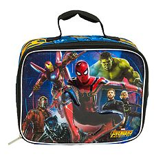 Kids Marvel Avengers Spider-Man, Hulk, Iron Man, Starlord & Black Panther Lunch Bag