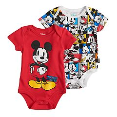 Disney's Mickey Mouse Baby Boy 2-pack Bodysuits