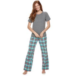 Juniors' SO® 3-piece Tee, Shorts & Pants Pajama Set