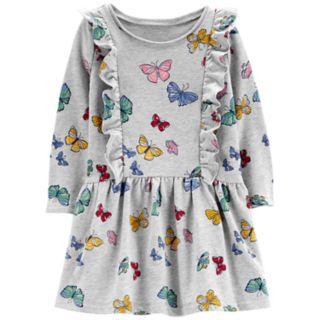 Toddler Girl Carter's Ruffled Printed Dress