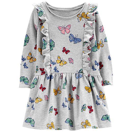 Toddler Girl Carter\'s Ruffled Printed Dress