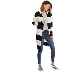 Women's POPSUGAR Striped Hood Coatigan