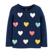 Toddler Girl Carter's Slubbed & Sequin Top