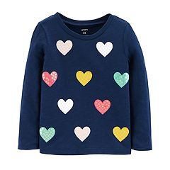 Toddler Girl Carter's Slubbed & Sequin Top