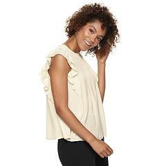 Women's POPSUGAR Ruffle Smocked Swing Top