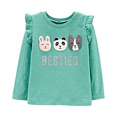 Toddler Girl Carter's Ruffled Slubbed Top