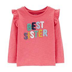 f00a5a76f86 Toddler Girl Carter s Ruffled Slubbed Top
