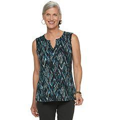 Women's Dana Buchman Everyday Casual Splitneck Tank