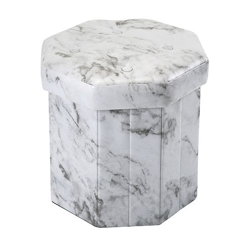 info for 27cf4 6658c Simplify Hexagon Marble Finish Collapsible Storage Ottoman