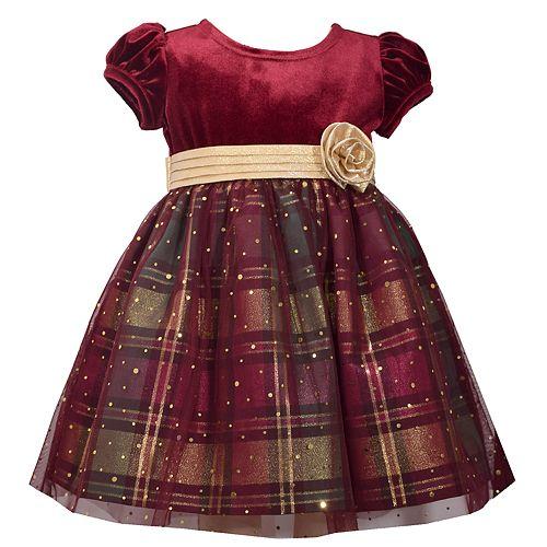 e618b7ce5 Baby Girl Bonnie Jean Velvet Plaid Dress