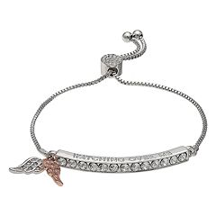Brilliance 'Watching Over Me' Adjustable Bracelet with Swarovski Crystals