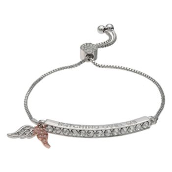 "Brilliance ""Watching Over Me"" Adjustable Bracelet with Swarovski Crystals"