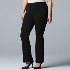 Plus Size Simply Vera Vera Wang MidRise Bootcut Ponte Pants