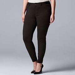 Plus Size Simply Vera Vera Wang MidRise Skinny Ponte Pants