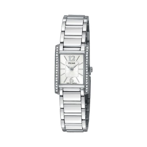 Pulsar Silver Tone Crystal Watch - Women