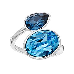 Brilliance Oval Teardrop Ring with Swarovski Crystals