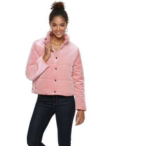 Women's POPSUGAR Velvet Puffer Jacket