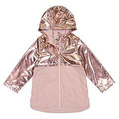 3478ec302 Girls 4-8 OshKosh B'gosh® Pink Metallic Lightweight Rain Jacket. sale