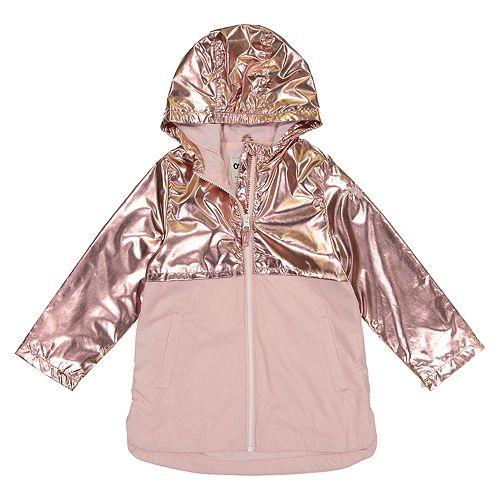 Girls 4-8 OshKosh B'gosh® Pink Metallic Lightweight Rain Jacket