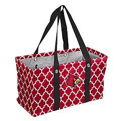 Logo Brand Louisville Cardinals Quatrefoil Picnic Caddy Tote