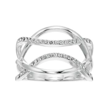 Brilliance Overlap Pave Ring with Swarovski Crystals