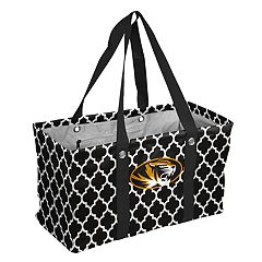 Logo Brand Missouri Tigers Quatrefoil Picnic Caddy Tote