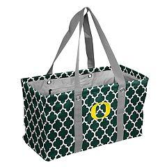 Logo Brand Oregon Ducks Quatrefoil Picnic Caddy Tote