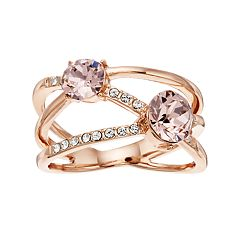 Brilliance Double Row Ring with Swarovski Crystals