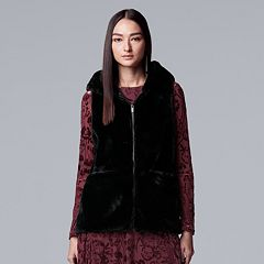 Women's Simply Vera Vera Wang Faux-Fur Vest